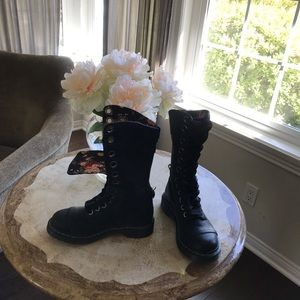 Doc Martin tall lace up boots